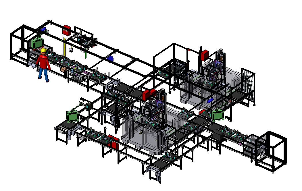 SolidWorks Diagram of Assembly Line Integration | Sci Mech