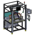 Diagram of an automated testing machine